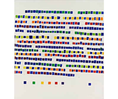Osvaldo Romberg, '1-445 All the Colors of the Chromatic Circle Interacted by Blue Ultramarine', 1980