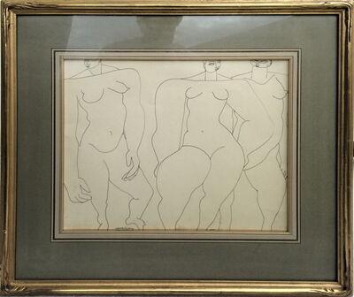 Louise Nevelson, '3 Graces', 1935