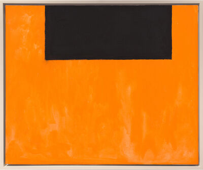 Robert Motherwell, 'Open No. 51: In Black on Orange', 1969