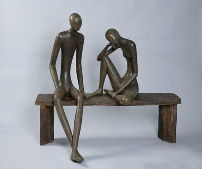 Ruth Bloch, 'Couple on a bench', 2018