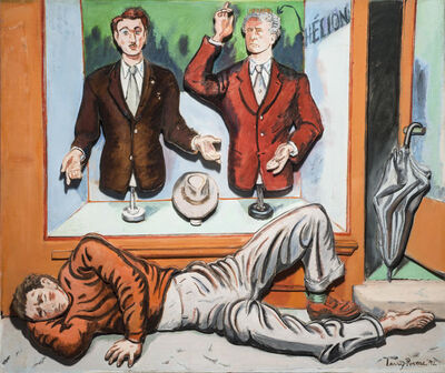 Larry Rivers, 'Art and the Artist: Jean Helion and the Dummies', 1992