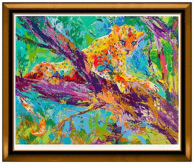 LeRoy Neiman, 'LeRoy Neiman Large Serigraph Serengeti Leopard Hand Signed Big Cat Framed Art', 1976
