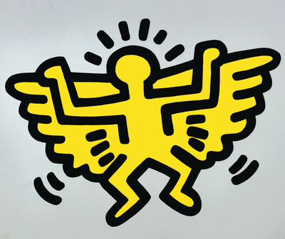 Keith Haring, 'Flying Angel', 1990
