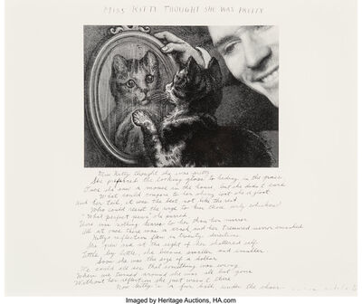 Duane Michals, 'Miss Kitty Thought She was Pretty', 1989