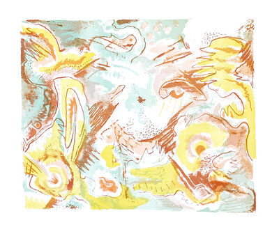 Le Oben, 'Abstract Landscape', ca. 1970