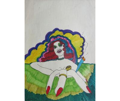 Ricardo Migliorisi, 'Cabeza de mujer con cigarrillo en mano', 1970