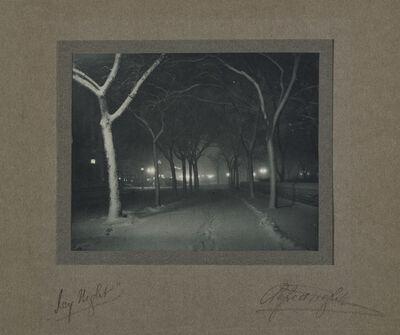 Alfred Stieglitz, 'Icy Night', 1898