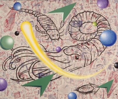 Kenny Scharf, 'Way Way Back and Forward', 1991
