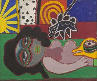 Corneille, 'La Femme Aux Lèvres Peintre', 1974