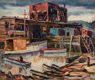 Louis Bosa, 'Wharf', 1934