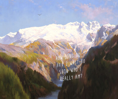 Shawn Huckins, 'In The Mountains: How Long Do I Have To Wait To Show Who I Really Am?', 2021