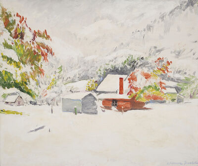 William Frater, 'Snow at Harrietville', 1944