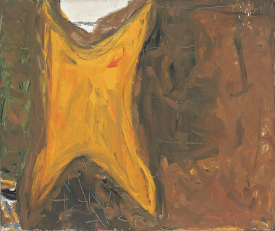 Robert Motherwell, '[Untitled (Orange, Brown)]', ca. 1951