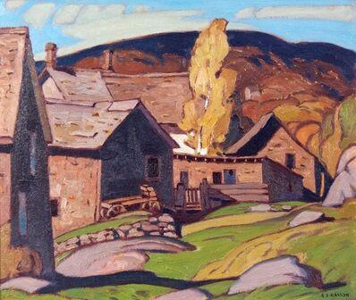 A.J. Casson, 'Barns, Parry Sound', 1930
