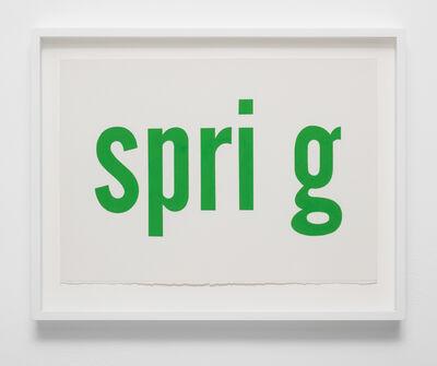 Kay Rosen, 'Spring', 2020