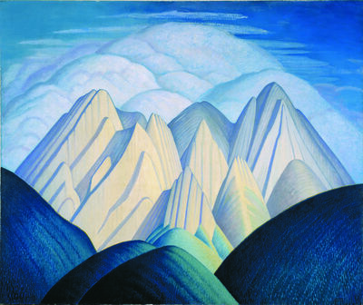 Lawren Stewart Harris, 'Untitled (Mountains Near Jasper)', ca. 1934