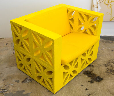 Emmett Moore, 'Flower Block Chair', 2015
