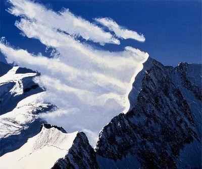 Lukas R. Vogel, 'Wolkenstimmung am Piz Bernina', 2001