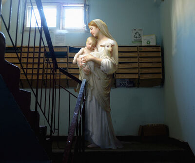 Alexey Kondakov, 'William Bouguereau «Madonna with Baby and Lamb». Kiev, without a place.', 2015