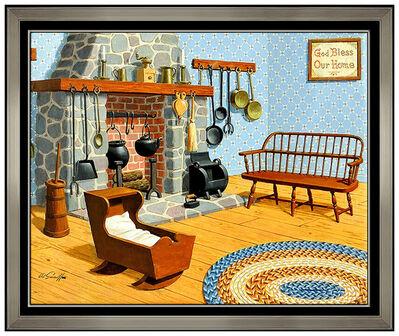 Arthur Sarnoff, 'Arthur Sarnoff Oil Painting On Canvas Original Illustration Signed Framed Art', 20th Century
