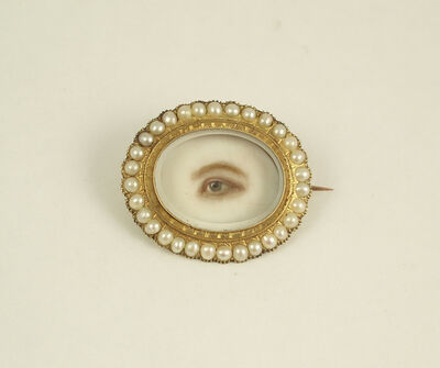 'Brooch with Eye Miniature', ca. 1845