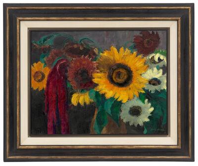Emil Nolde, 'Sonnenblumen mit Fuchsschwanz', 1937