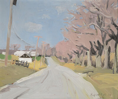 Fairfield Porter, 'Cobb Road, Water Mill in April', 1966
