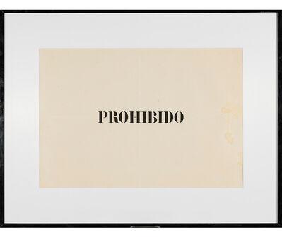 Jaime Higa Oshiro, 'Prohibido', 1984