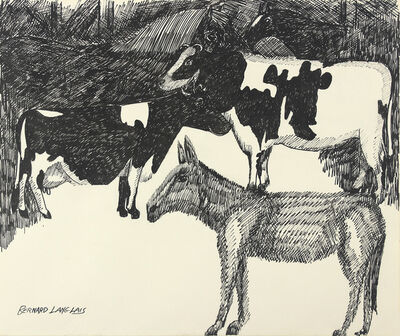 Bernard Langlais, 'In the Barn', ca. 1970