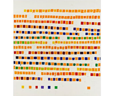 Osvaldo Romberg, '1-392 All the Colors of the Chromatic Circle Interacted by Orange Cadmium', 1980
