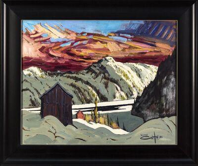 Bruno Cote, 'Pres De Sacre Coeur - 20th century expressionistic, mountainous landscape', 1980