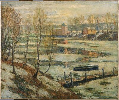 Ernest Lawson, 'Ice in the River', ca. 1907