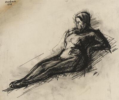 Frank Auerbach, 'Nude', 1954
