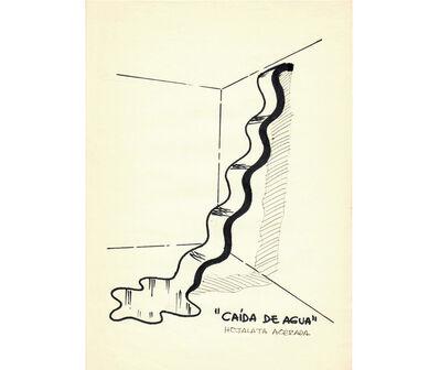 Juan Pablo Renzi, 'Proyecto Variantes significativas de una misma forma. Caída de agua', ca. 1966-1967