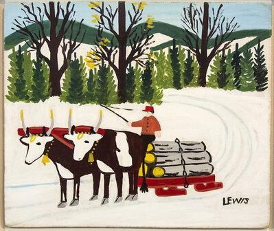 Maud Lewis, 'Hauling Logs', 1962-1963