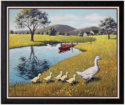 Arthur Sarnoff, 'Arthur Sarnoff Original Oil Painting on Canvas Signed Illustration Artwork Duck', 20th Century