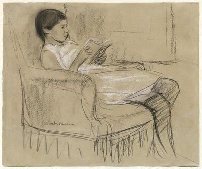 Max Liebermann, 'The Artist's Daughter Käthe Reading in a Chair', 1893/1895