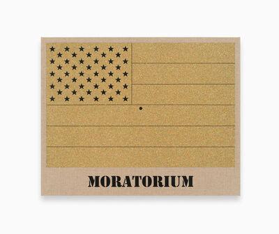 Jonathan Horowitz, 'Moratorium (Gold Rainbow Flag for Jasper in the Style of the Artist's Boyfriend)', 2017