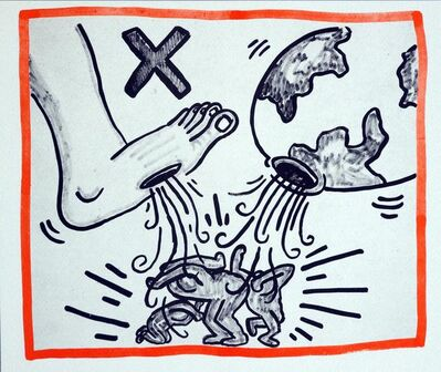 Keith Haring, 'Keith Haring Against All Odds lithograph 1990', 1990
