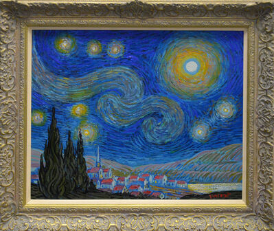 John Myatt, ' Starry Night With Artist Sketching', 2020