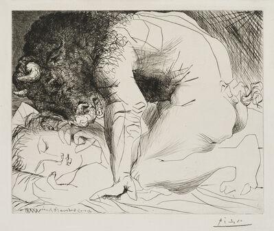Pablo Picasso, ''Minotaure caressant du Mufle la Main d'une Dormeuse' from the 'Suite Vollard'', 1933-1934