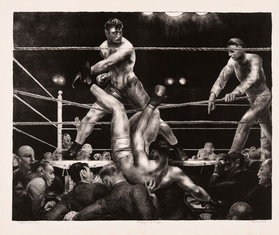 George Wesley Bellows, 'Dempsey and Firpo', 1923-1924