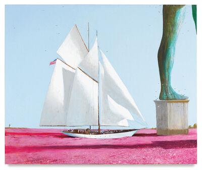 Julio Larraz, 'Sara and Gerald Entering Casabianca Through the Sea of Flowers', 2017
