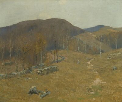 Bruce Crane, 'Autumn Hills', 1857-1837