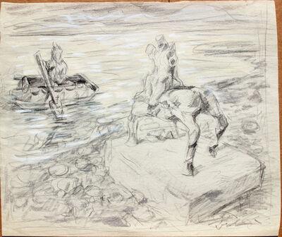 Pei Zhuangxin, 'Sketch ⼿稿《冰河》', 2007