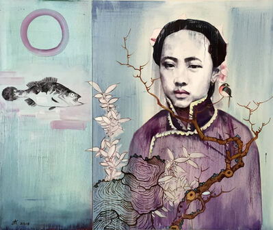 Hung Liu, 'Winter with Cynical Fish', 2014