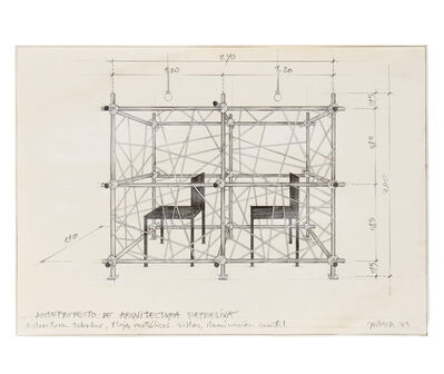 Horacio Zabala, 'Anteproyecto de arquitectura represiva - Perspectiva', 1973/2014