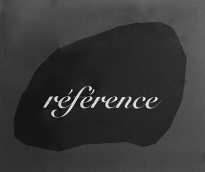 Joseph Kosuth, 'Reference After Magritte'