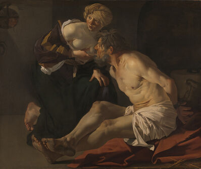 Dirck van Baburen, 'Cimon and Pero (Roman Charity)', 1622-1623