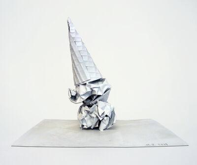 Matt Johnson, 'Paper Ice Cream Cone (upside down)', 2014